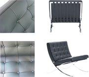 Барселона кресло ,   черная кожа