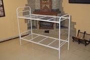Кровати металлические двухъярусные для общежитий,  односпальные кровати