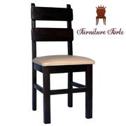 Стул деревянный с мягким сиденьем,  Стул Карат