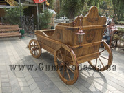 Деревянная декоративная карета телега повозка