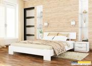 Кровать деревянная «Титан» белая 140х200 (Эстелла)